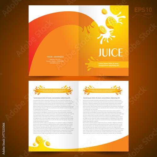 brochure design template booklet catalog fruit juice liquid drop – Free Booklet Template