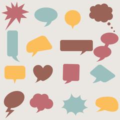 Speech bubbles set