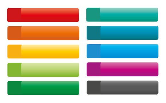 Set of vector colorful web buttons
