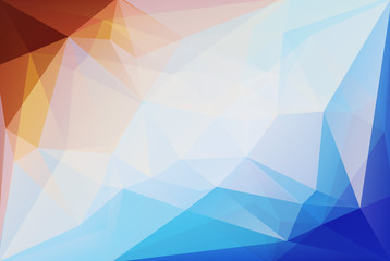 Geometrical orange, white and blue color background