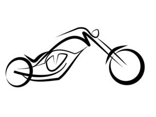 Fototapete - Custom Chopper Motorrad Tribal