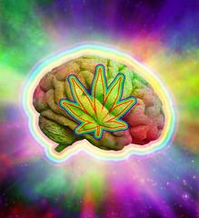 Psychedelic Brain Marijuana