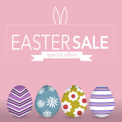 The easter eegs banner for easter sales with special offers