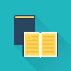 vector flat library book icon