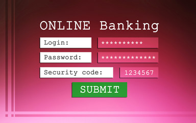 Online banking background
