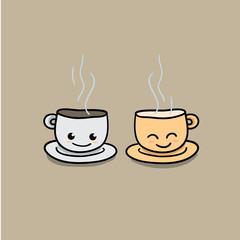 coffee cup cartoon illustration