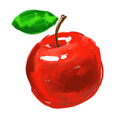 apple Vector illustration  hand drawn  painted