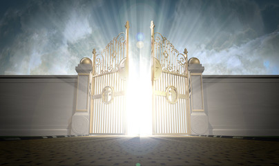 Heavens Gates Opening Wall mural