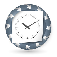 vector abstract icon with arrows and watches