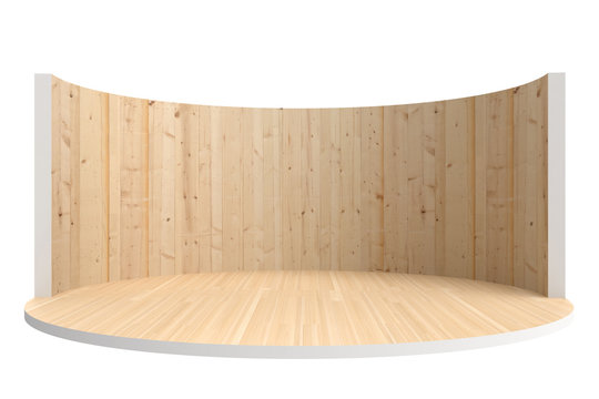empty stage or round room