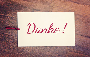 greeting card - Danke