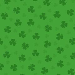 Pretty irish background with clover's leafs