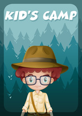 A poster showing a kid's camp