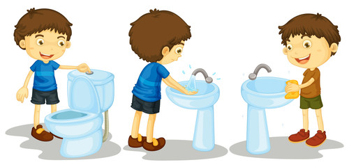 Boy and toilet