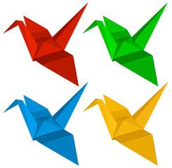 Four origami designs