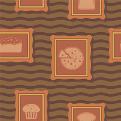 Seamless background with bakery