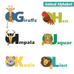 Animal alphabet.