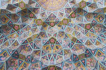 Exterior detail of the Nasir al-Mulk mosque in Shiraz, Iran.