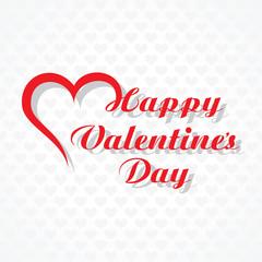 Valentine's day greeting card design vector illustration'