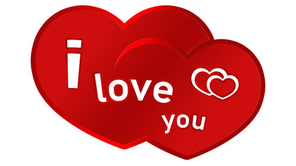 lyl2 LoveYouLabel - i love you - double heart - 16zu9 g3112