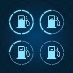 GasTankVectorillustrationBlue