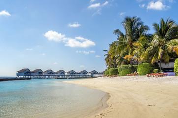 The white sandy beach, Maldives