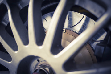 Super sport car alloy wheel disc brake