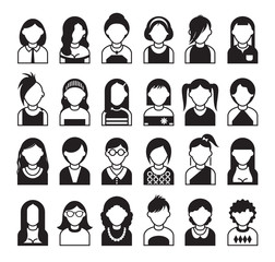 twenty four set of style women icon