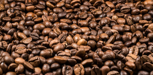 roasted coffee beans, can be used as a background