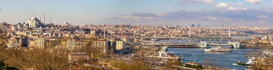 Aluminium Prints Turkey Cityscape of Istanbul from the Topkapi Palace - Turkey