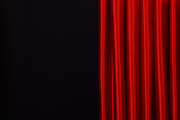 Red Curtain on black background