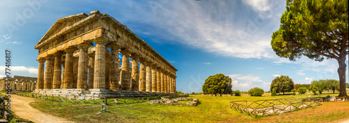 Wall mural Panorama - Temple Of Paestum - Italy
