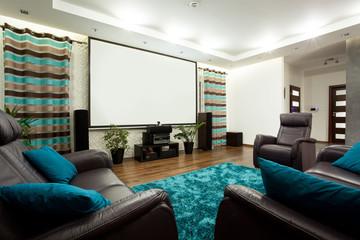 Movie theatre in modern house