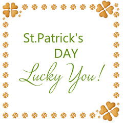 Happy St.Patrick's Day, greeting card