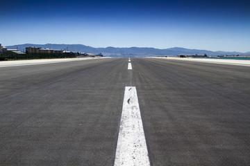 Shot of an empty runway