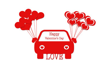 Car love for valentine's day