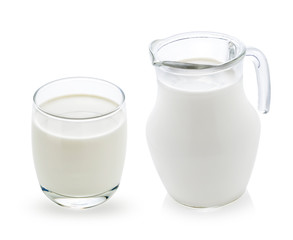 milk isolated on white