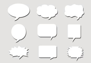 Paper speech bubbles background