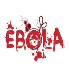 Ebola virus graphic text design vector