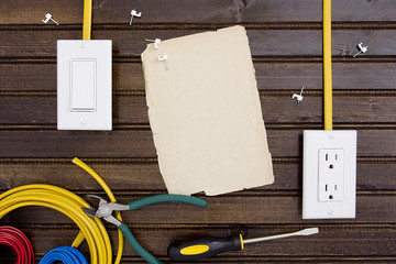 Tools and fasteners for fixing electrical wiring