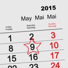 May 9 Victory Day. Calendar
