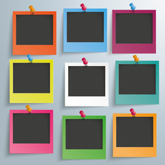 9 Colored Photo Frames