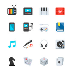 Entertainment Icons : Flat Icon Set