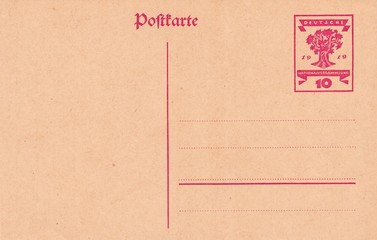 German postcard 1919