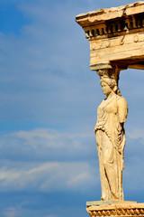 Caryatides, Erechtheion temple Acropolis in Athens