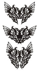 Tribal butterfly wings in dragon form