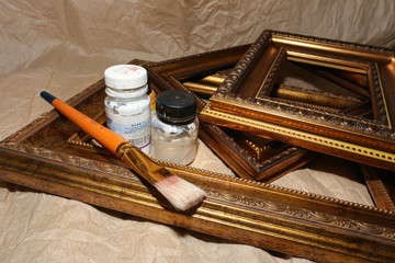Mouldings for frames in a Studio