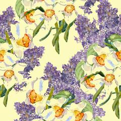 Mai bloom seamless pattern