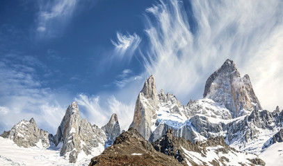 Fitz Roy Mountain Range in Patagonia, Argentina