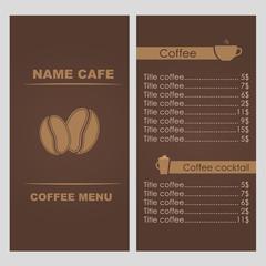 Design coffee menu